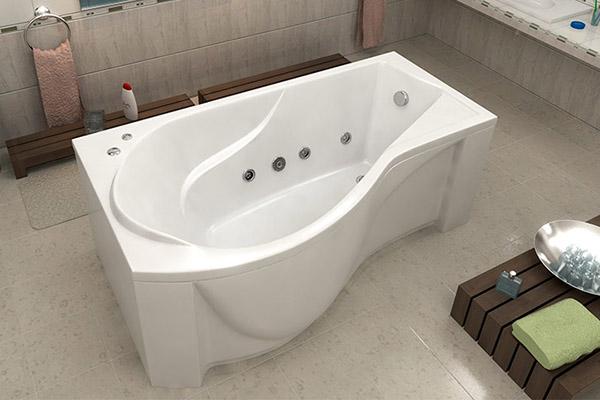 Акриловая ванна с функцией джакузи