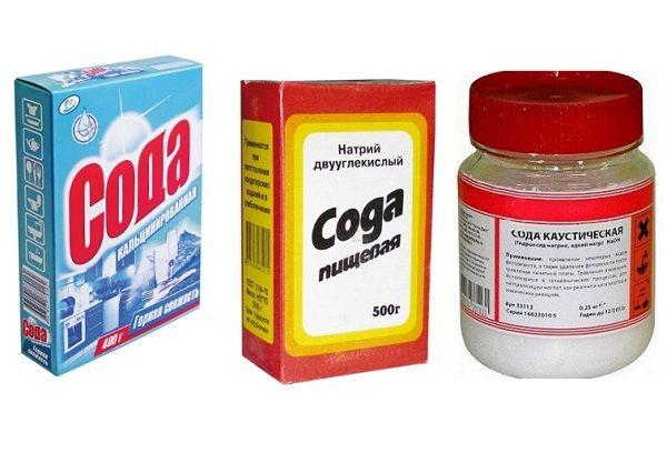 Кальцинированная, пищевая и каустическая сода