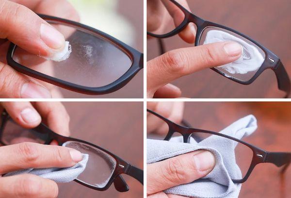 Удаление царапин с очков