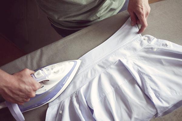 Утюжка воротничка мужской сорочки