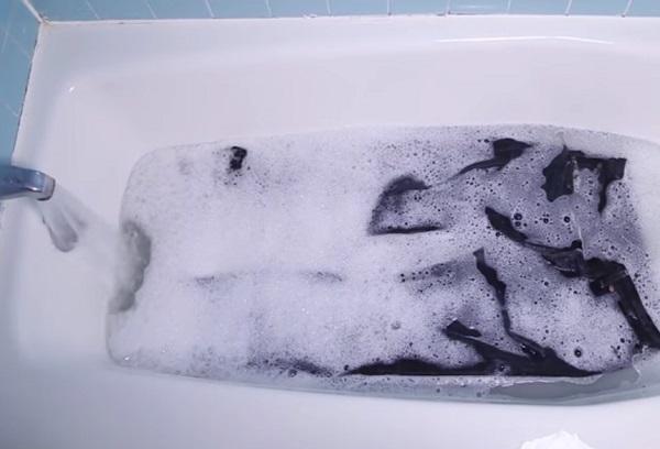 Стирка денима в ванне