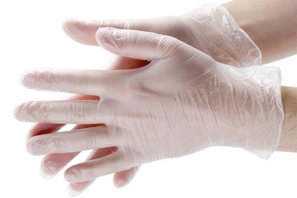 Виниловые одноразовые перчатки
