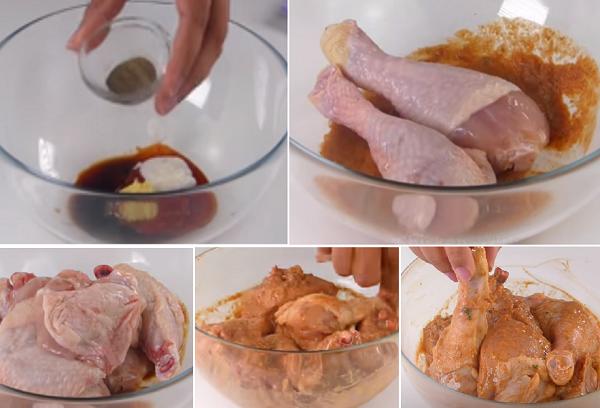 Рецепт жареной курицы в стиле КФС