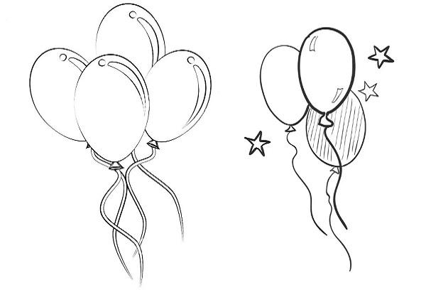 Вытынанки в виде воздушных шаров