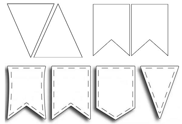 Флажки на 9 мая шаблон для вырезания