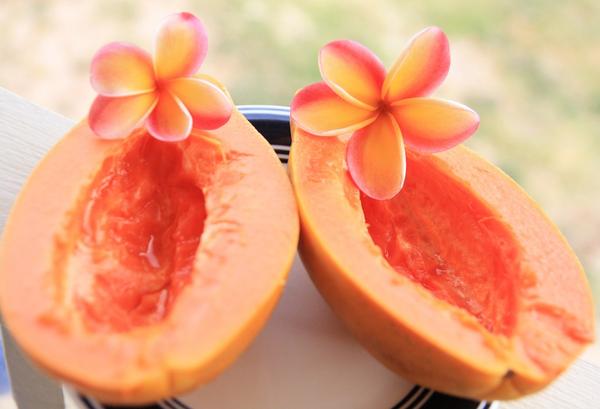Сочная мякоть папайи