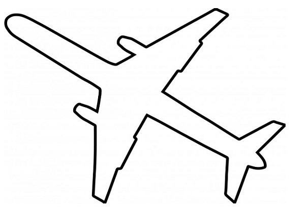 Шаблон для вырезания самолет
