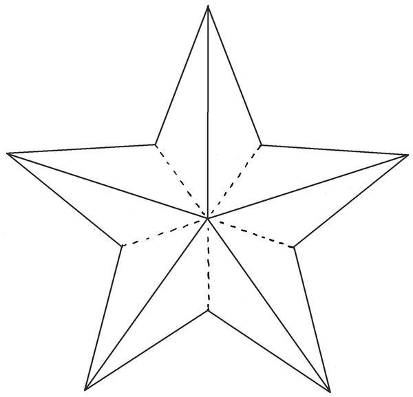 Объемная звезда шаблон