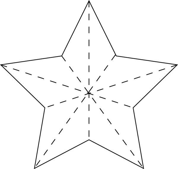 Объемная звезда для вырезания