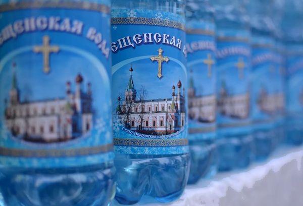 Крещенская вода в бутылках