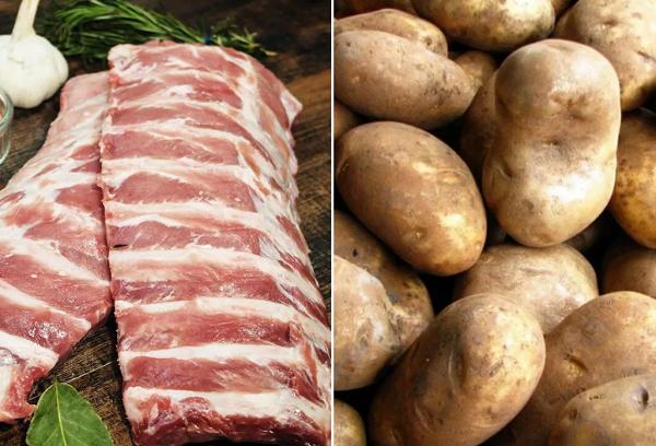 Ребра свиные и картошка