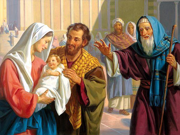 Сретение Господне Симеон и младенец