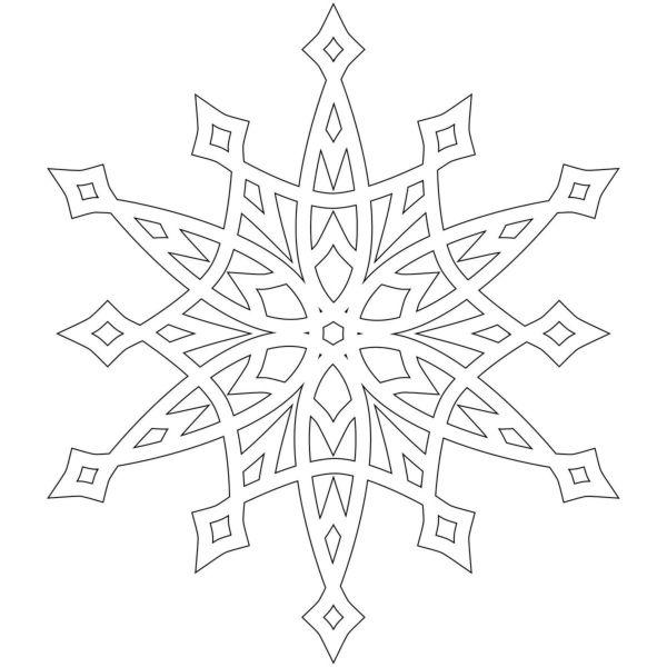 Вытынанки Снежинки на Новый год 1