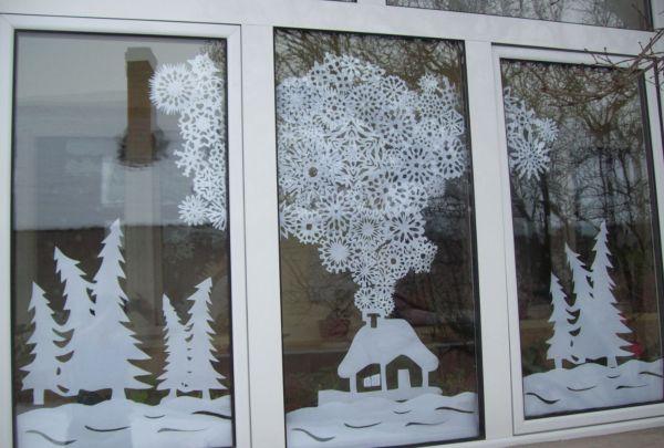 Новогодние композиции на окна