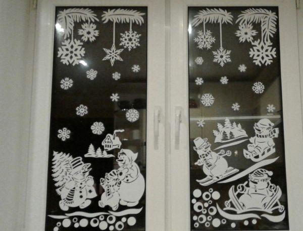 Композиции на новый год на окна