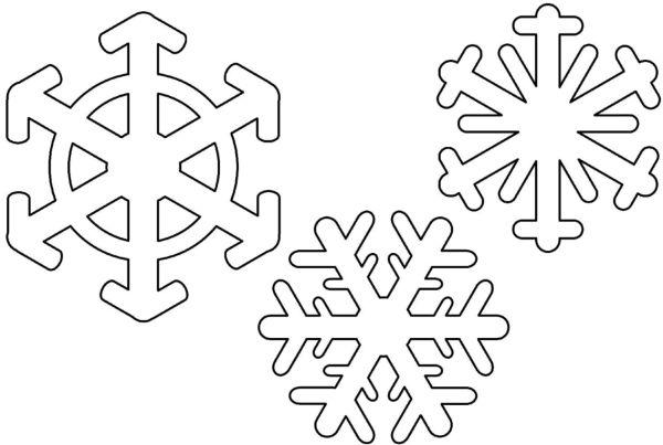 Вытынанки Снежинки на Новый год 2
