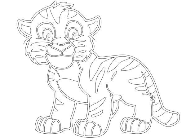 Трафарет тигренка