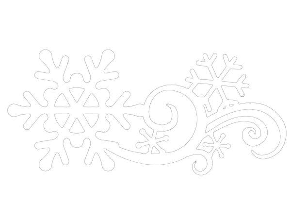 Морозное кружево трафарет