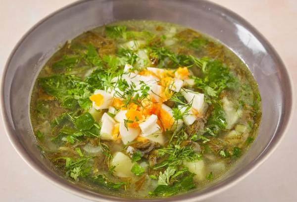 Зеленый борщ классический рецепт