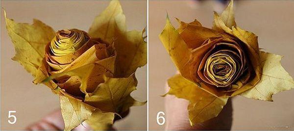 Поделка из листьев клена 3