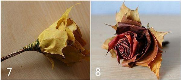 Поделка из листьев клена 4