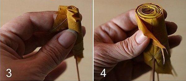 Поделка из листьев клена 2