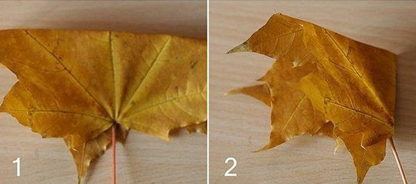 Поделка из листьев клена 1