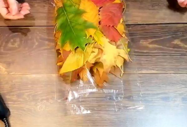 Филин из листьев 1