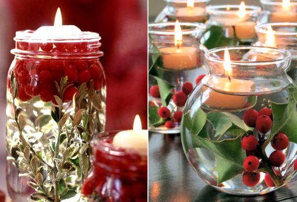 Свечи в стеклянных баночках